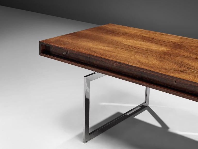 Early Bodil Kjaer Executive Writing Table In Good Condition For Sale In Waalwijk, NL