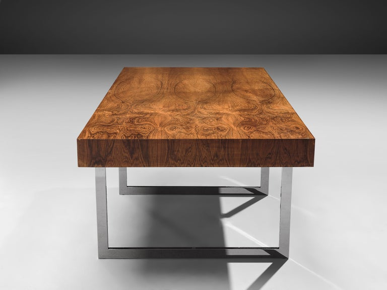 Steel Early Bodil Kjaer Executive Writing Table For Sale