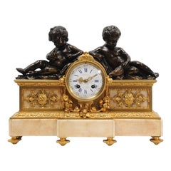 Early Bronze and Ormolu Antique French Clock by Charpentier of Paris