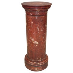 Early 19th Century Scagliola Pedestal Column