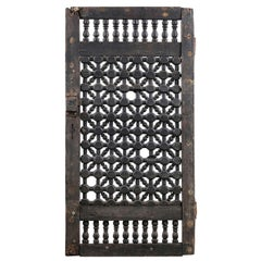 Early Carved Jali Panel or Window Shutter, 20th Century