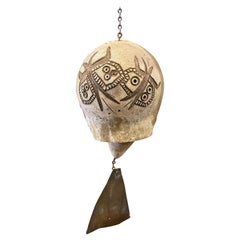 Early Ceramic Cosanti Bell by Paolo Soleri, 1950s