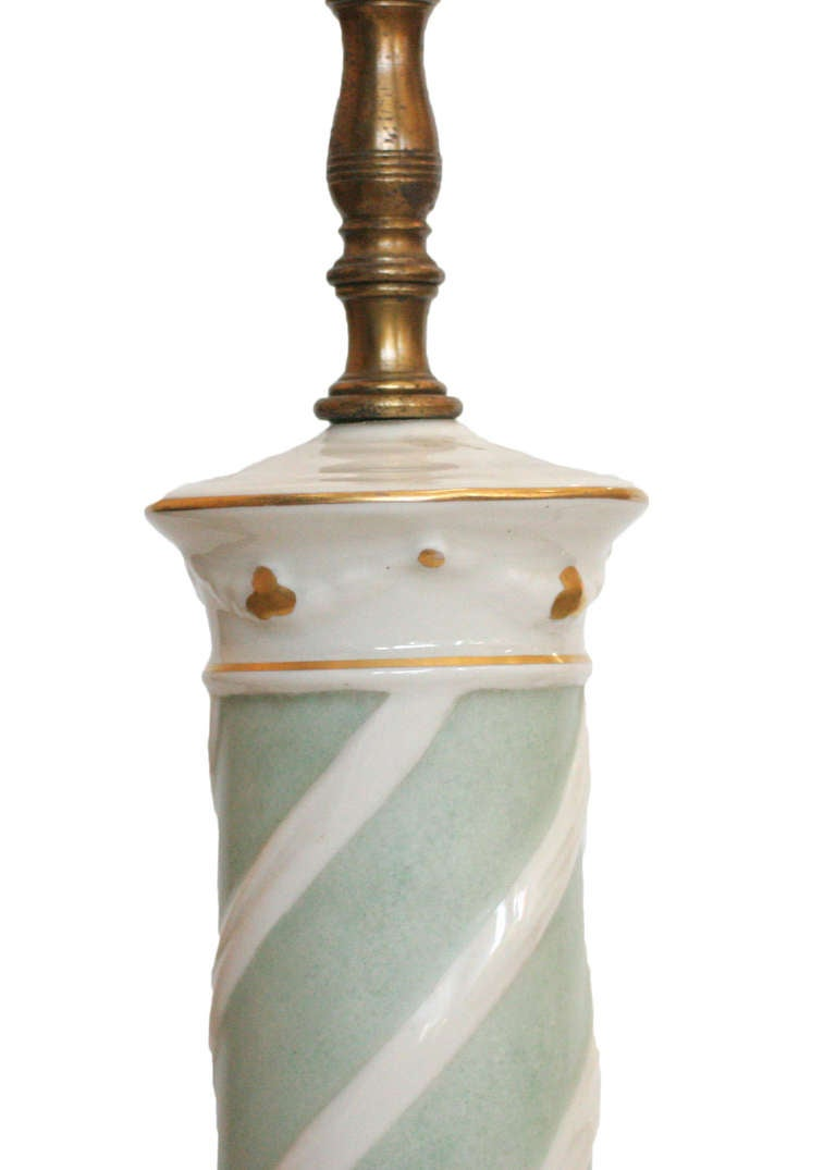 American Early Ceramic Regency Lamp by Rembrandt Light Company For Sale