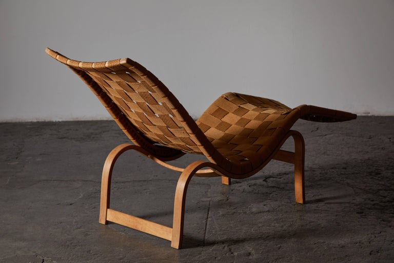Mid-20th Century Early Chaise Lounge by Bruno Mathsson For Sale