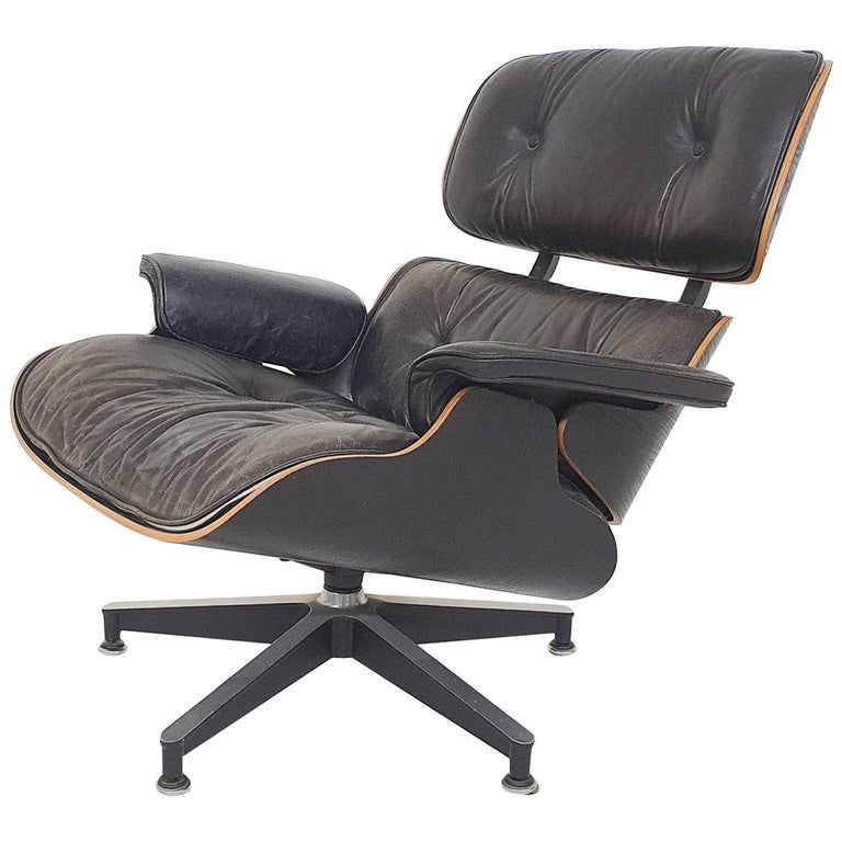 """1971 Charles and Ray Eames Lounge Chair """"Model 670"""" for Herman Miller, 3rd Gen For Sale"""