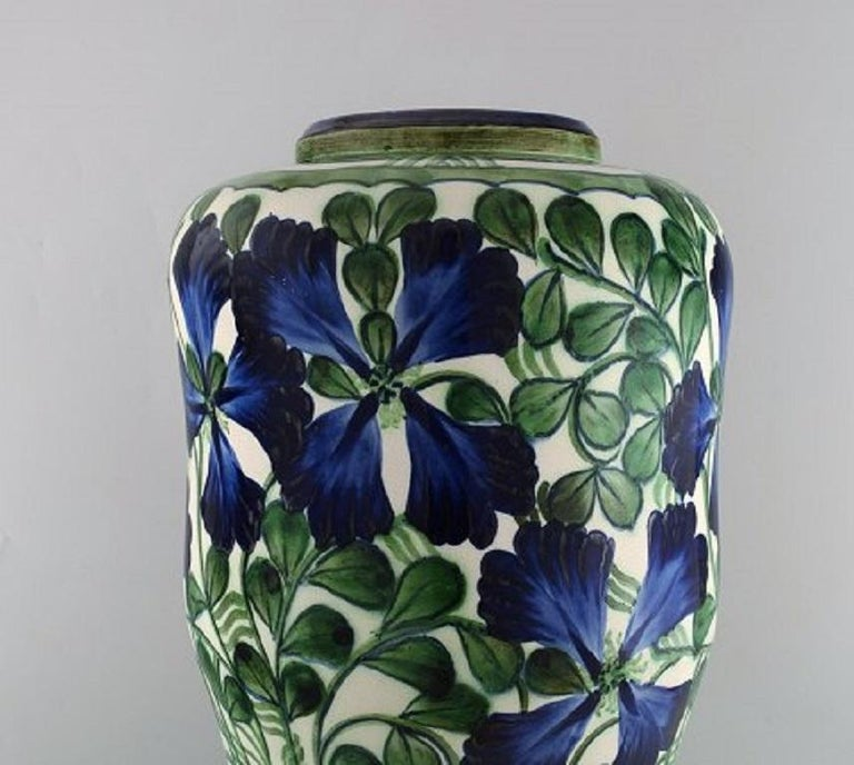 Art Nouveau Early Colossal Alumina Vase in Faience, Early 20th Century For Sale