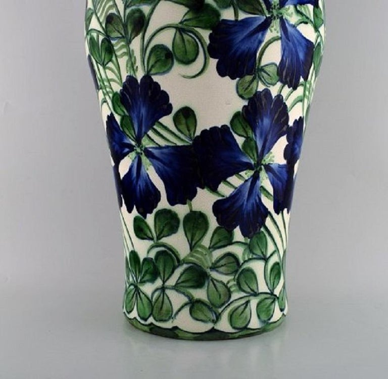 Danish Early Colossal Alumina Vase in Faience, Early 20th Century For Sale