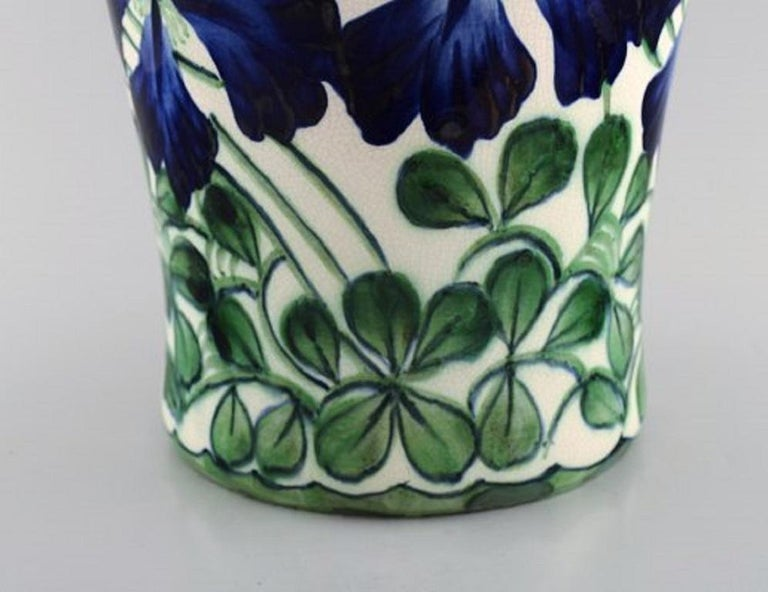Early Colossal Alumina Vase in Faience, Early 20th Century For Sale 2