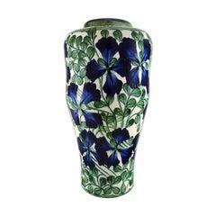 Early Colossal Alumina Vase in Faience, Early 20th Century