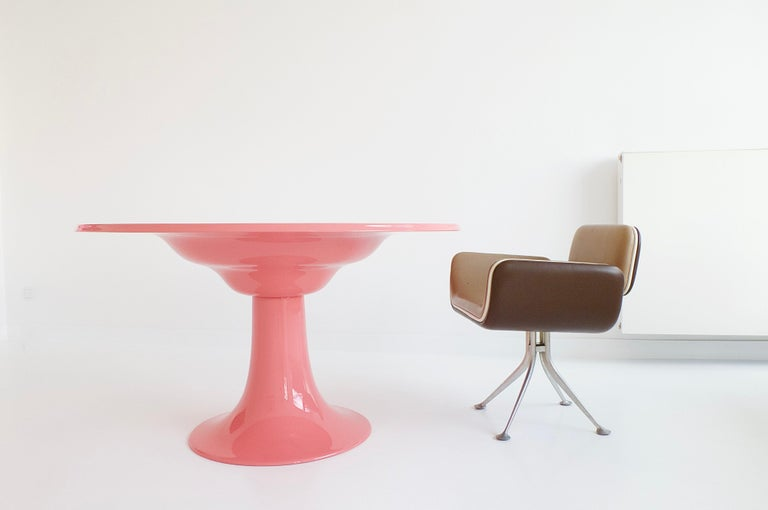 Early Column Table by Otto Zapf for Zapf Moebel in Design, 1967 For Sale 6