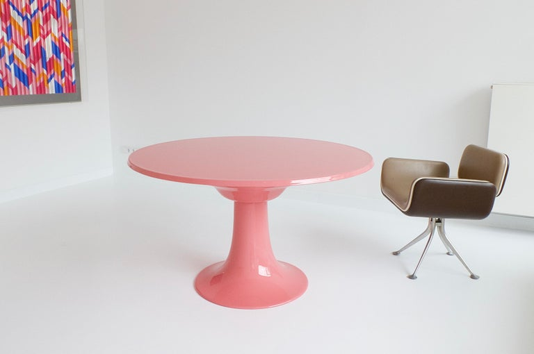 Early Column Table by Otto Zapf for Zapf Moebel in Design, 1967 For Sale 8