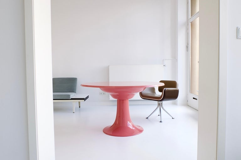 Mid-Century Modern Early Column Table by Otto Zapf for Zapf Moebel in Design, 1967 For Sale