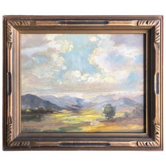 """Early Countryside Landscape Oil on Canvas Signed """"Olivia D Pennington"""""""
