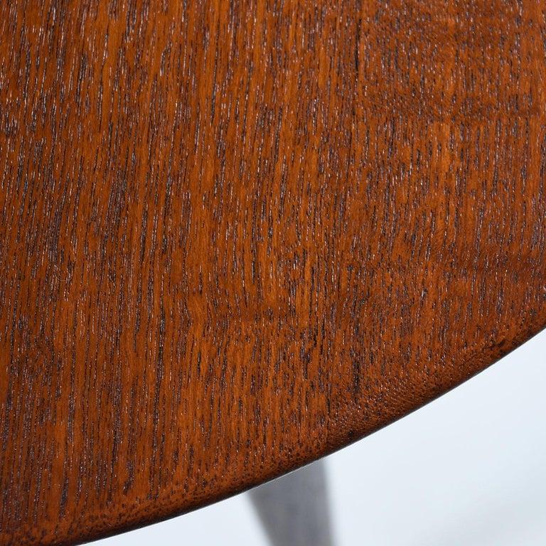Mid-20th Century Scandinavian Modern Early Danish Solid Teak 3-Leg End Table For Sale