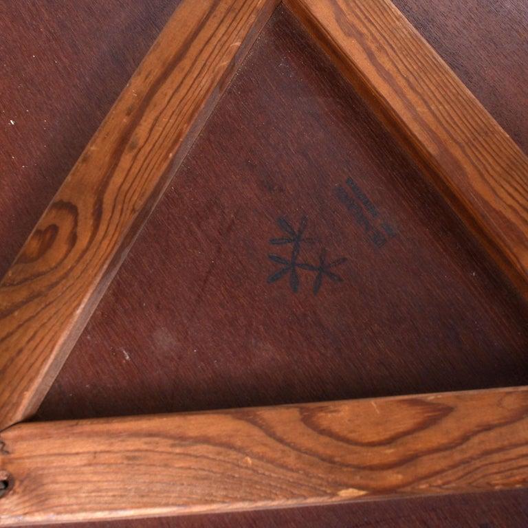 Scandinavian Modern Early Danish Solid Teak 3-Leg End Table For Sale 1