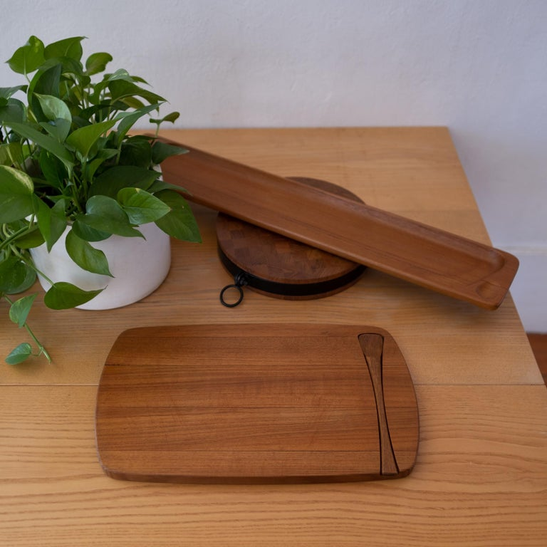 Early Dansk Serving Tray with Spoon by Jens Quistgaard In Good Condition For Sale In San Diego, CA