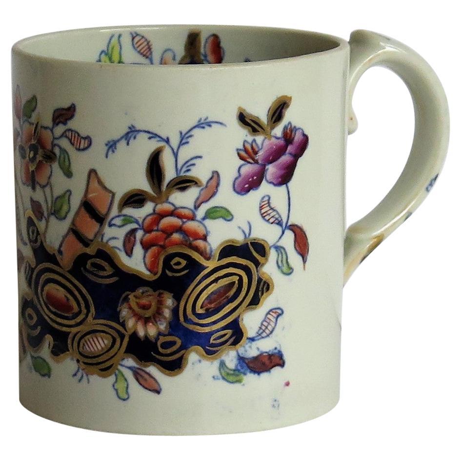 Early Davenport Ironstone Mug Hand Painted Chinoiserie Pattern 659, circa 1815