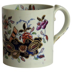 Early Davenport Ironstone Mug Hand Painted Chinoiserie Pattern 659, circa 1815