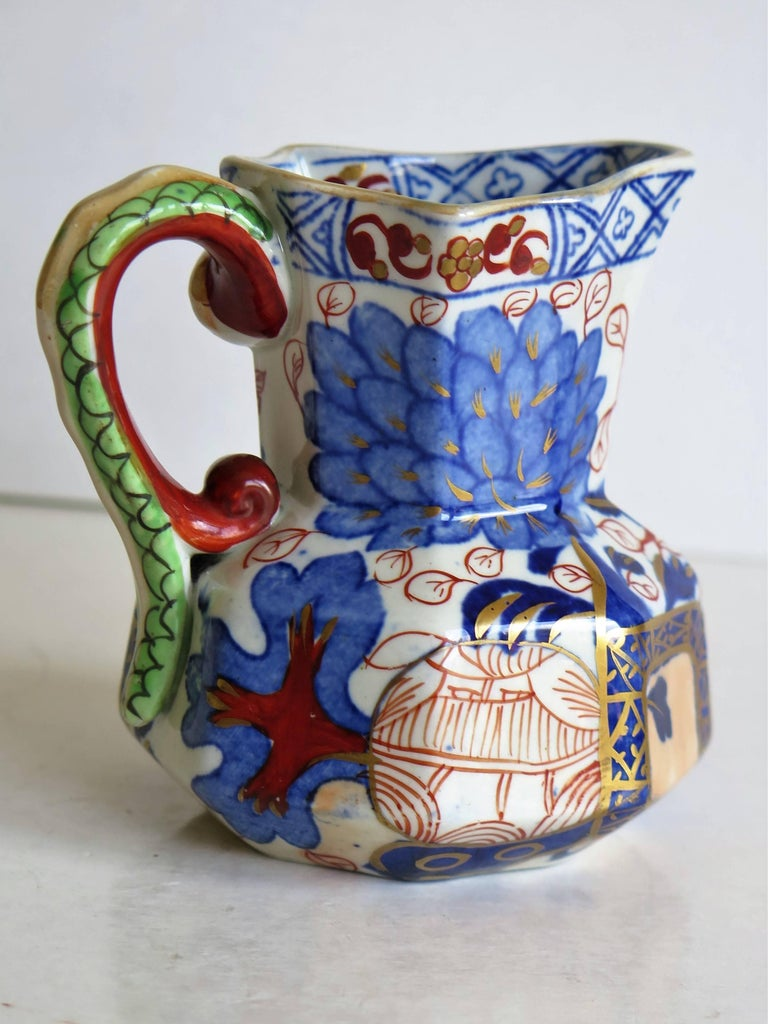 Chinoiserie Early Davenport Ironstone Small Hydra Jug Jardiniere Pattern, English circa 1815 For Sale