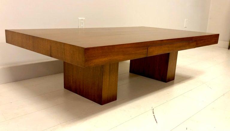 Early Dunbar Mahogany Coffee Table For Sale 4