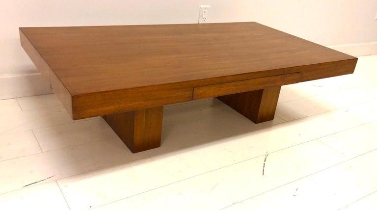 Early Dunbar Mahogany Coffee Table For Sale 5