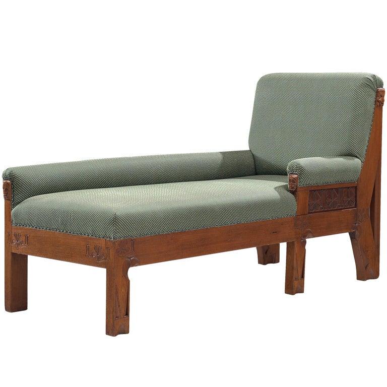 Dutch chaise longue reupholstered in ZAK+FOX Fantasma fabric, 1930s