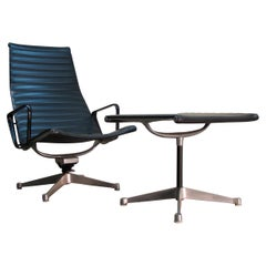 Early Eames Aluminum Group Management Low Lounge Chair and Ottoman