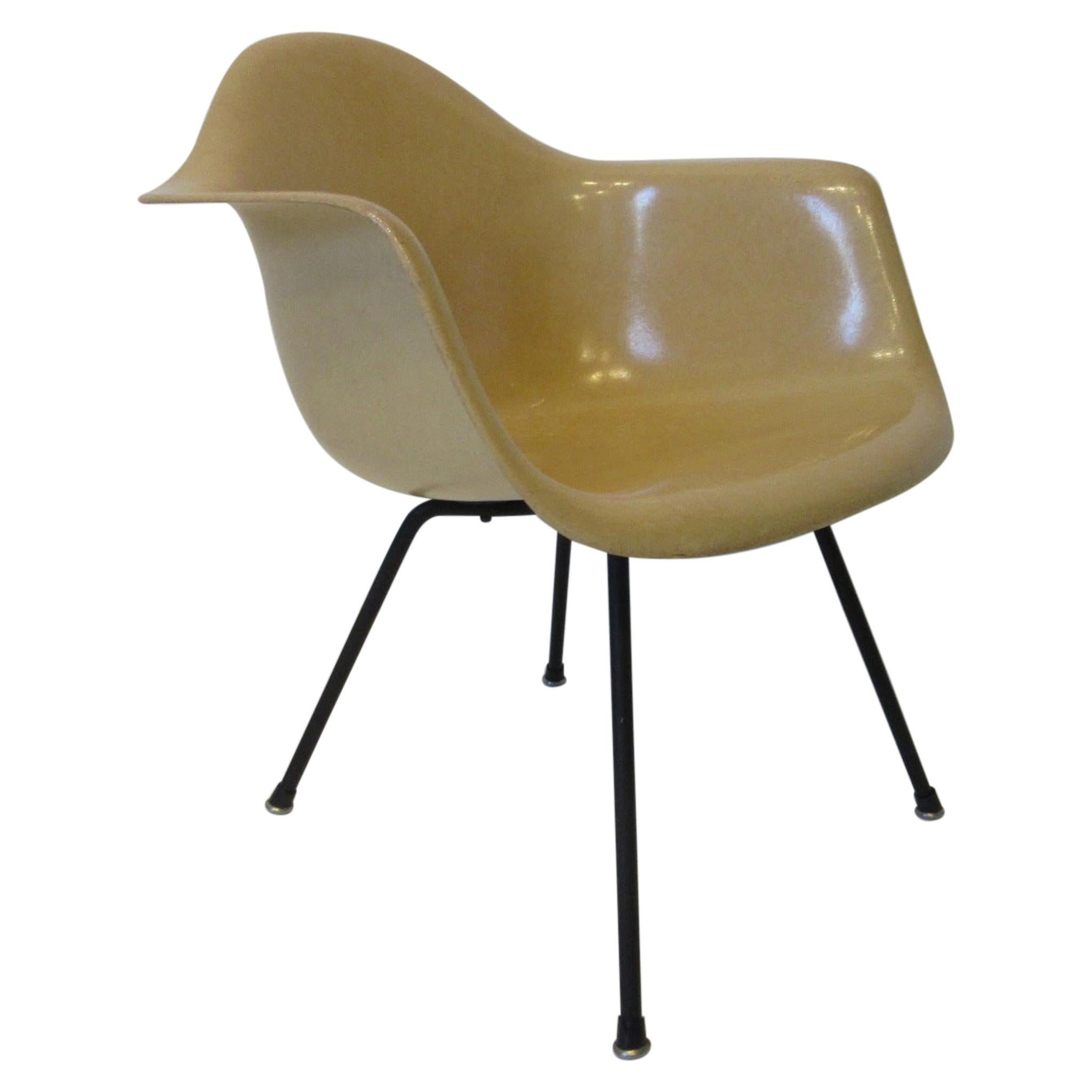 Early Eames Armshell Lounge Height Chair by Herman Miller