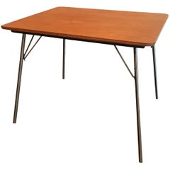 Early Eames IT-1 Wood Top Side Table with Label