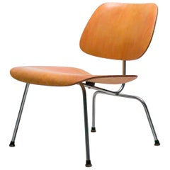 Early Eames LCM with Red Aniline Dye Finish