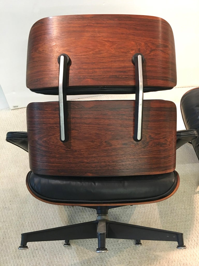 Early Eames Lounge Chair and Ottoman by Herman Miller 3