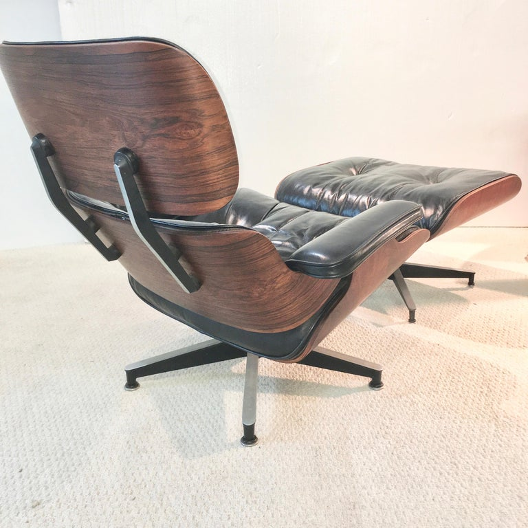 Mid-Century Modern Early Eames Lounge Chair and Ottoman by Herman Miller