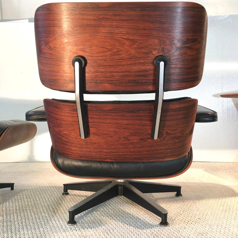 American Early Eames Lounge Chair and Ottoman by Herman Miller