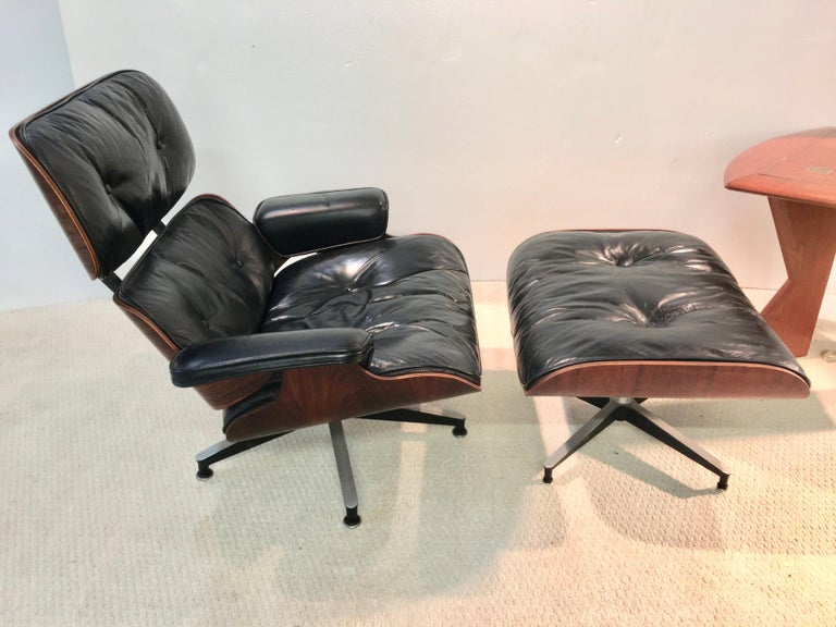 1960s Early Eames Lounge Chair and Ottoman by Herman Miller