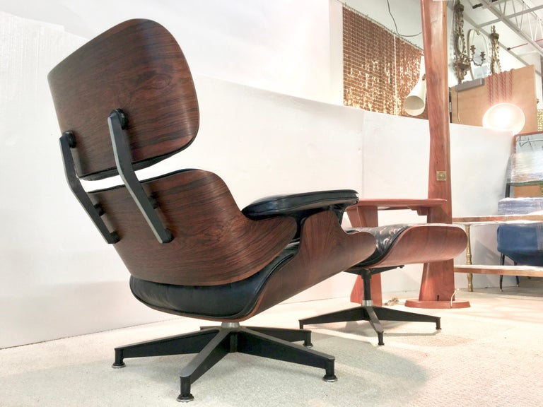 Early Eames Lounge Chair and Ottoman by Herman Miller 1