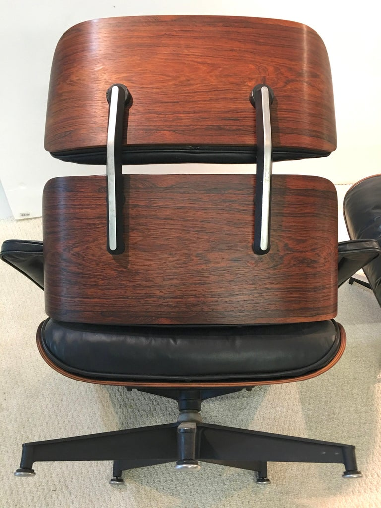 Early Eames Lounge Chair and Ottoman by Herman Miller 2