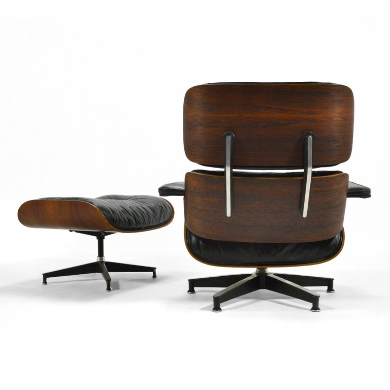 American Early Eames Rosewood Lounge and Ottoman
