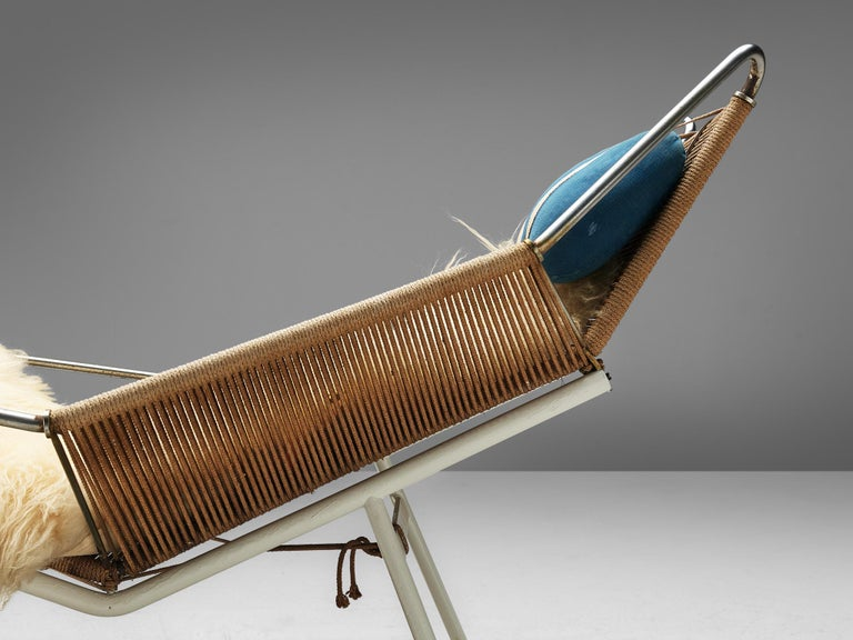 Early Edition Hans Wegner Flag Halyard Chair For Sale 3