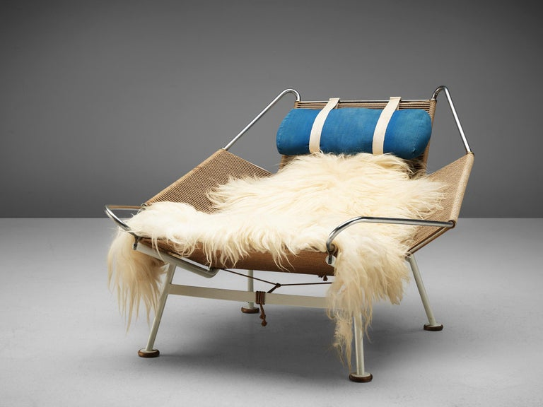 Scandinavian Modern Early Edition Hans Wegner Flag Halyard Chair