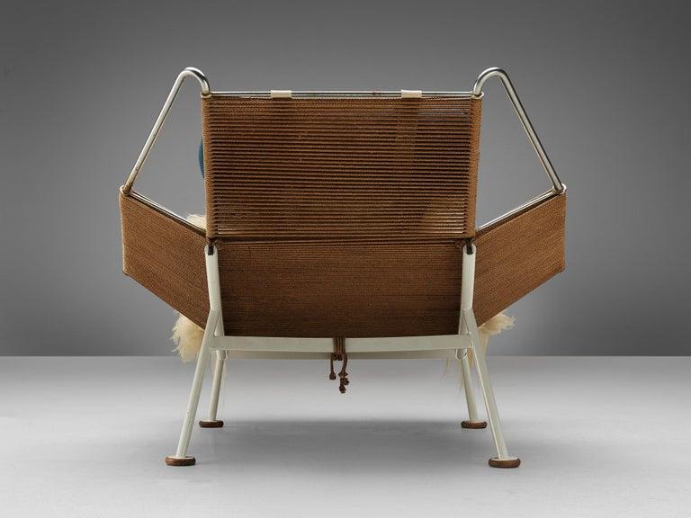 Early Edition Hans Wegner Flag Halyard Chair In Good Condition In Waalwijk, NL