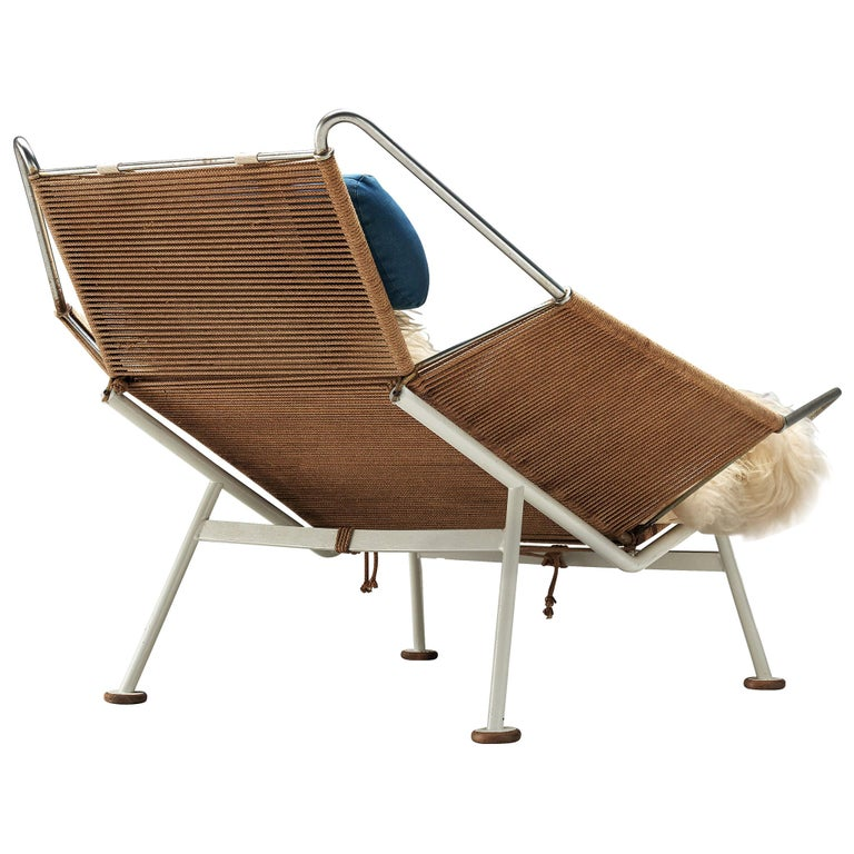 Early Edition Hans Wegner Flag Halyard Chair For Sale