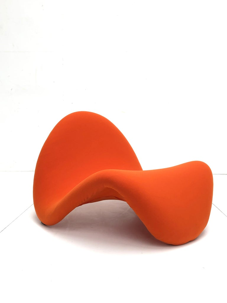 Space Age Early Edition Pair of Tongue Chairs F577 by Pierre Paulin for Artifort, 1967 For Sale