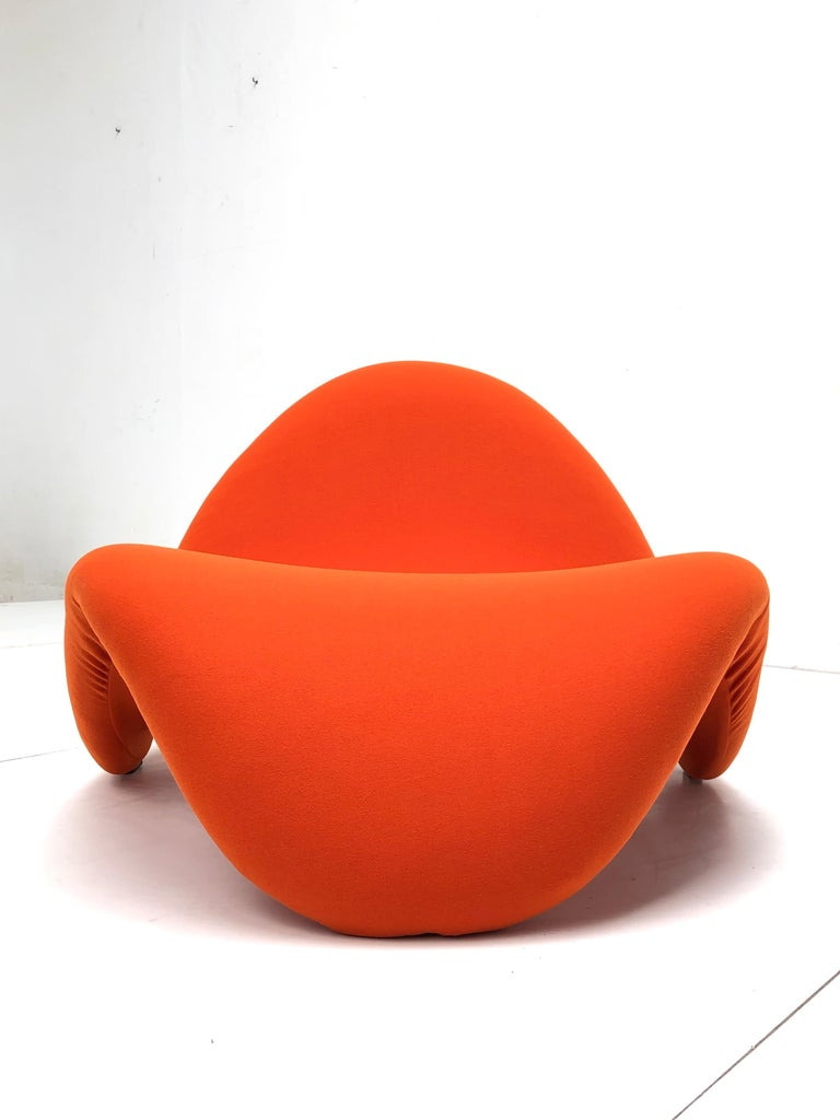 Dutch Early Edition Pair of Tongue Chairs F577 by Pierre Paulin for Artifort, 1967 For Sale