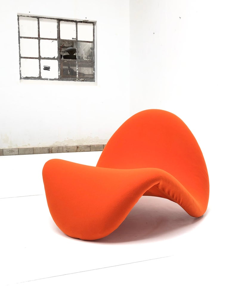 Early Edition Pair of Tongue Chairs F577 by Pierre Paulin for Artifort, 1967 In Good Condition For Sale In bergen op zoom, NL