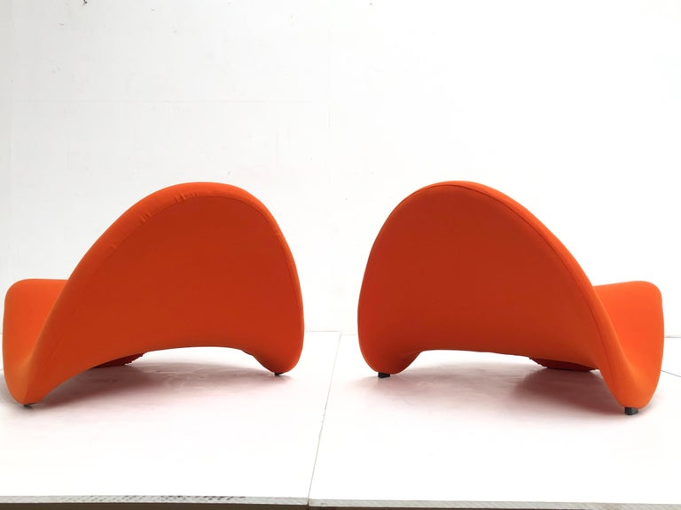 Metal Early Edition Pair of Tongue Chairs F577 by Pierre Paulin for Artifort, 1967 For Sale