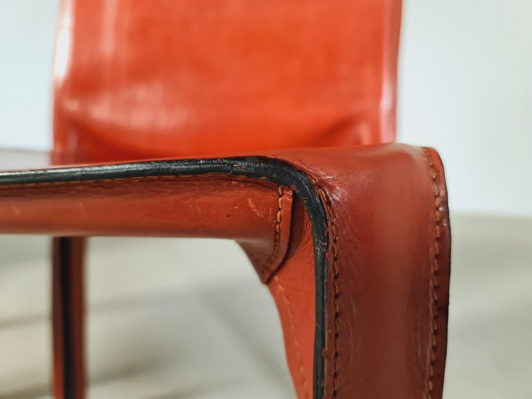 Early Edition Set of 6 CAB 412 Chairs by Mario Bellini for Cassina, 1970 For Sale 1