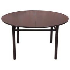 Early Edward Wormley for Dunbar Ebonized Extension Dining Table, Newly Restored