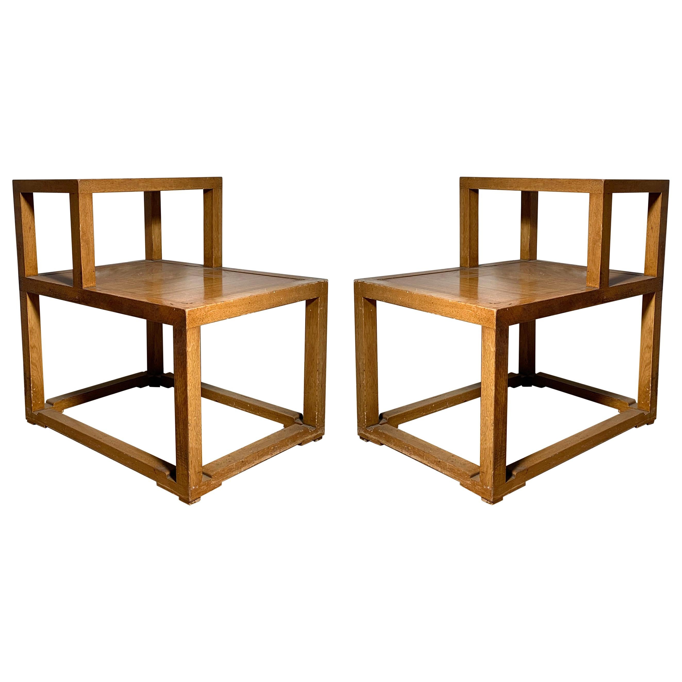 Early Edward Wormley Step End Tables / Nightstands for Dunbar