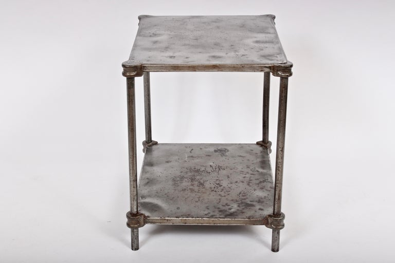 American Early Edwardian Iron Two-Tier Étagère, Table