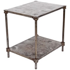Early Edwardian Iron Two-Tier Étagère, Table